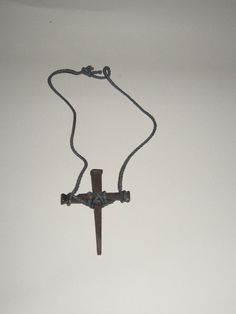 vintage rustic square nail cross necklace by Linsvintageboutique, $14.50