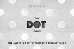 The Dot Shop – Illustrator Actions by Sivioco on @creativemarket
