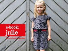 E-Book, Jerseykleid JULIE (Schnittmuster und Anleitung) // ebook tutorial and cutting patern for kids dress by schnittreif via DaWanda.com