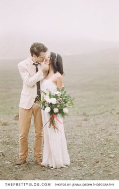 Romance in the Fog   Couples   Dress by Angl    Photography by Jenna Joseph