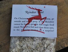 Reindeer dust - Please make sure you have edible glitter in your reindeer dust for the reindeer at www.luxlykreindeer.co.uk