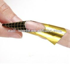 Wholesale Golden Nail Form Nail Art Tips Extension Form Guide French DIY Tool Acrylic UV Gel