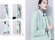 J.Crew Collection- Love the mint mixed with gray.