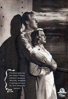 "Van Johnson, June Allyson in ""High Barbaree"" (1947)"