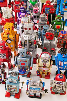 Toy robots Photograph  - Toy robots Fine Art Print