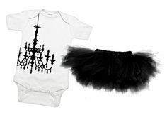 A black chandelier and black tutu?  Yes please. Made me think of baby London's room!  Lisa would love this.