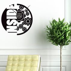Style and Apply Inside Wall Clock Wall Decal Color: Royal Blue