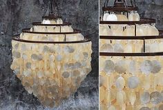 HUGE Capiz Chandelier - From Antiquefarmhouse.com - http://www.antiquefarmhouse.com/current-sale-events/nautical-decor/capiz-chandelier.html