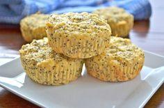 Lemon Protein Poppyseed Muffins