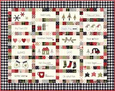 It's back.....sort of! This was our Honwtiwn Christmas quilt from last year- using our Hometown fabric. Swipe to see a digital image of the quilt in our new Overnight Delivery fabric. It's a bit more traditional in color (no blue), but just as cute! We are taking preorders for the quilt kit in Overnight Delivery now- but only until January 26! Link in profile. #overnightdelivery #showmethemoda