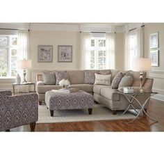 sectional sofa in small living room interior design New Living Room, Living Room Interior, Home And Living, Living Room Furniture, Living Room Decor, Small Living, Living Room With Sectional, Living Area, Furniture Mattress