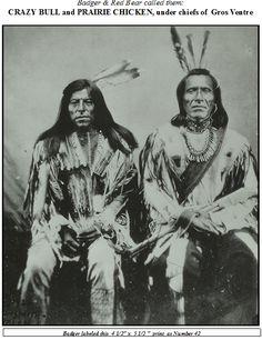 Crazy Bull and Prairie Chicken, Fort Berthold, 1872
