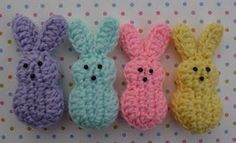 Wouldn't these be cute in a basket at Easter. Marshmallow Bunnies