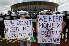 "Anti-Cup protest in Rio slams 'traitor' Pele Around 150 people gathered Wednesday in Rio to protest against Brazil hosting the World Cup, with legendary star Pele blasted as a ""traitor"" for backing the event, an AFP reporter said. #SportsNews #WorldCup"