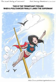 14. But with constant practice, you'll turn into a superhero! | 15 Truths About Pole Dancing