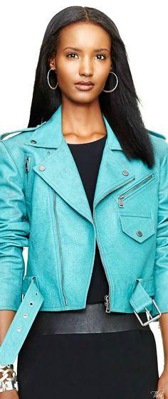 Ralph Lauren ● Leather Kaylin Jacket
