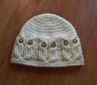Crochet PATTERN-It's a Hoot -Owl Hat. Adult, baby and toddler/child sizes. Crochet Owl Hat, Owl Crochet Patterns, Crochet Cable, Crochet Beanie Pattern, Owl Patterns, Bead Crochet, Crochet Hooks, Baby Hats, Crochet Projects