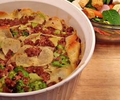 Image of AuGratin Potato and Ground Beef Casserole