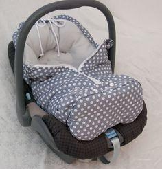 """Fußsäcke - Fußsack """"Graui"""" für Babyschalen - ein Designerstück von LuanaLuna bei DaWanda"""