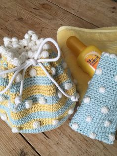Crochet Club: Small Drawstring Bag by Kate Eastwood on the LoveCrochet blog