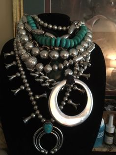 Sterling silver and turquoise necklaces