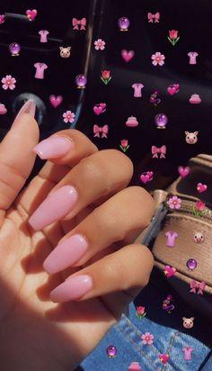Nageldesign - Nail Art - Nagellack - Nail Polish - Nailart - Nails nails To find the plants that wil Acrylic Nails Coffin Short, Summer Acrylic Nails, Best Acrylic Nails, Coffin Nails, Pink Coffin, Spring Nails, Baby Pink Nails Acrylic, Pink Acrylic Nail Designs, Pink Summer Nails