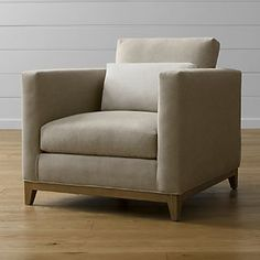 I like the oak base, but I think the chair is too big and square for our spaces...