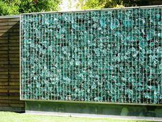 slag glass wall