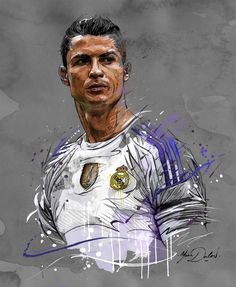 My painting of Cristiano Ronaldo! by Yann Dalon - Real Madrid