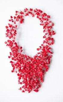 Madeline Red Necklace - pretty winter necklace Red Jewelry, Bridal Jewelry, Jewellery, Fashion Accessories, Fashion Jewelry, Paper Ornaments, Red Necklace, Jewelry Boards, Artisan Jewelry
