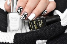 Black & white aztec nails #marinelp #nailart - bellashoot.com
