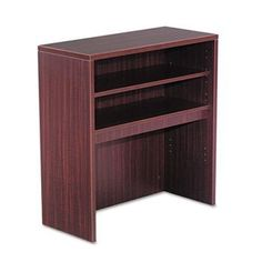 NEW - Valencia Series Open Storage Hutch, 33-7/8w x 15d x 35-1/2h, Mahogany - VA293415MY by ALERA. $241.93. 65. A place for everything and everything in its place! Increase productivity and reduce desktop clutter with this durable laminate hutch. As stylish as it is practical, it features a compartmentalized storage system with adjustable shelves and can accommodate your computer monitor underneath for even greater space efficiency. Valance and wire access is in...