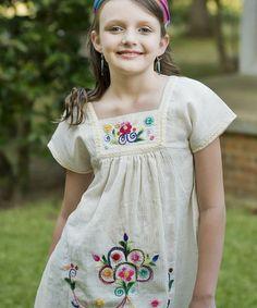 Another great find on #zulily! Ecru & Pink Flower Maya Tunic - Infant, Toddler & Girls by Little Cotton Dress #zulilyfinds