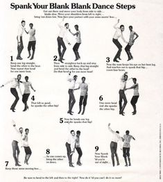 Spank Your Blank Blank: Funky vintage dance step instructions (including the Time Warp!)