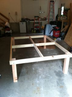 DIY Raised Bed Mattress Frame.