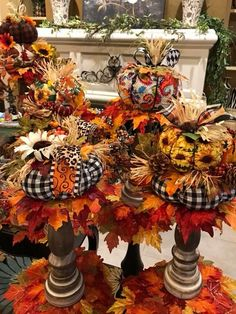 Pumpkin Pumkin Decoration, Harvest Decorations, Thanksgiving Decorations, Thanksgiving Ideas, Diy Home Decor For Apartments, Fall Arrangements, Autumn Decorating, Fall Projects, Fall Home Decor