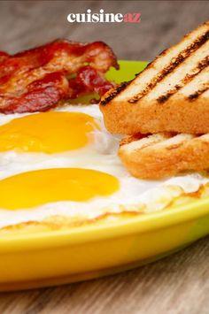 Le toast bacon & egg est facile et rapide à préparer avant un match de foot. #recette#cuisine#toast#bacon #oeuf #soireefoot Bacon Egg, French Toast, Breakfast, Food, Recipes, Morning Coffee, Essen, Meals, Yemek