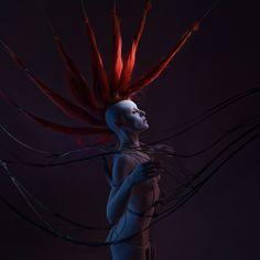 """""""rare bird"""", concept, exoskeleton and styling: CHRISTIAN MARTIN WEISS. model: annika liebe makeup: regina bocek"""