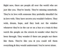 Why do I feel so alone then..?