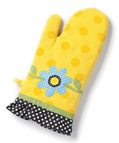 Take a look at this Dots & Daisies Oven Mitt by DEMDACO on #zulily today!