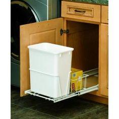 Rev-A-Shelf 20-quart Vanity Waste Container with Basket  Model # RV-14PB S Internet # 202855936