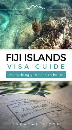 This Fiji travel guide tells you everything you need to know about tourist visas for the beautiful Fiji islands. It details important visa information and travel tips, as well as some entry requirements you might not be aware of. #expatalli Bora Bora, Tahiti, Fiji Islands, Cook Islands, Fiji Culture, Fly To Fiji, Visit Fiji, Visa Information, Fiji Travel