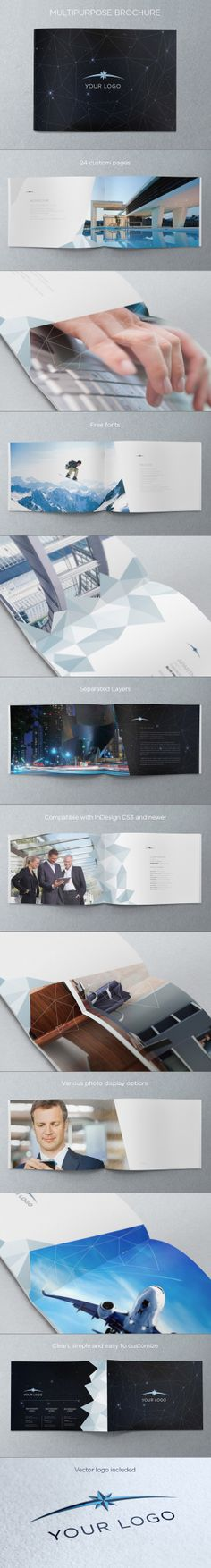 Multipurpose Brochure. Download here: http://graphicriver.net/item/multipurpose-brochure/4541485 #design #brochure