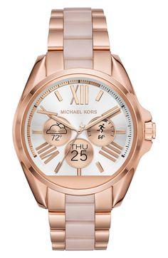 88cff79329f Main Image - MICHAEL Michael Kors Bradshaw Bracelet Smart Watch, 45mm  Reloj, Ropa,