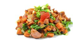 Kielbasa Sweet Potato Hash - Paleo Perfect Recipe - Rich Bitch Cooking Blog