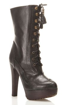 Lace up oxford boots / NYLA