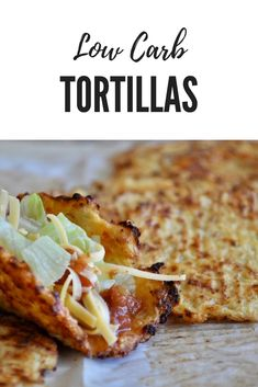 When you're eating a low carb diet one thing you're probably going to have to give up is the tortilla. Unless you make these Low Carb Tortillas. via @LttlHouseBigAK
