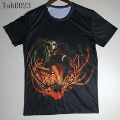Large Color Print Tokyo Ghoul Gaara Naruto Sasuke Fashion Tee T-Shirt