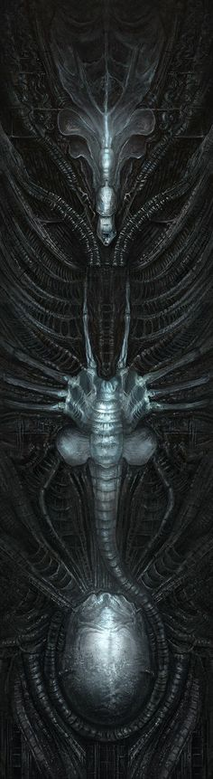 Cover illustrations for the Brazilian editions of the Alien trilogy (Tim Lebbon, James A. Out of the Shadows Hr Giger Art, Saga Art, Giger Alien, Arte Sci Fi, Predator Alien, Alien Queen, Alien Concept Art, Aliens Movie, Alien Art