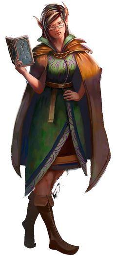f Elf Wizard magic book cape